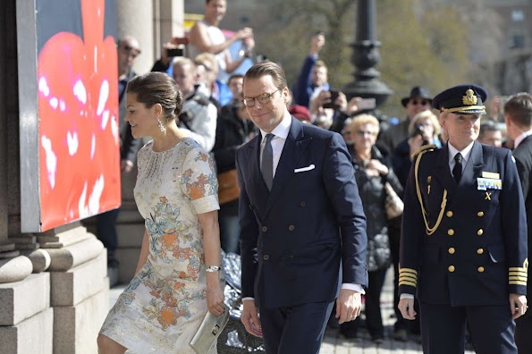 King Carl Gustaf and Queen Silvia, Crown Princess Victoria and Prince Daniel at Royal Academy of Arts