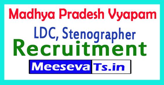 Madhya Pradesh Vyapam Recruitment 2017