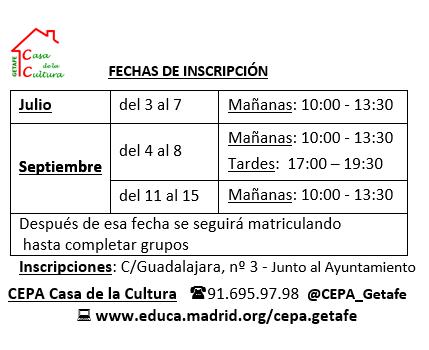 Cepa Casa De La Cultura Getafe Junio 2017