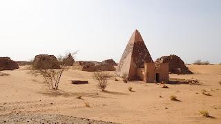 Historic Meroë pyramids site