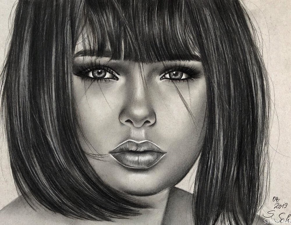 12-Marie-Grippon-Sabine-S-Charcoal-Portraits-Realistic-Drawings-www-designstack-co