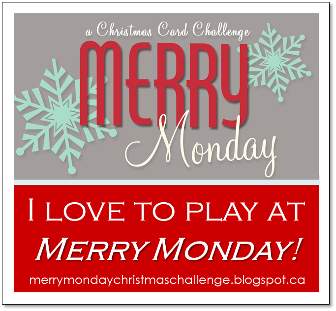 Merry Monday Christmas card challenge now has a new home