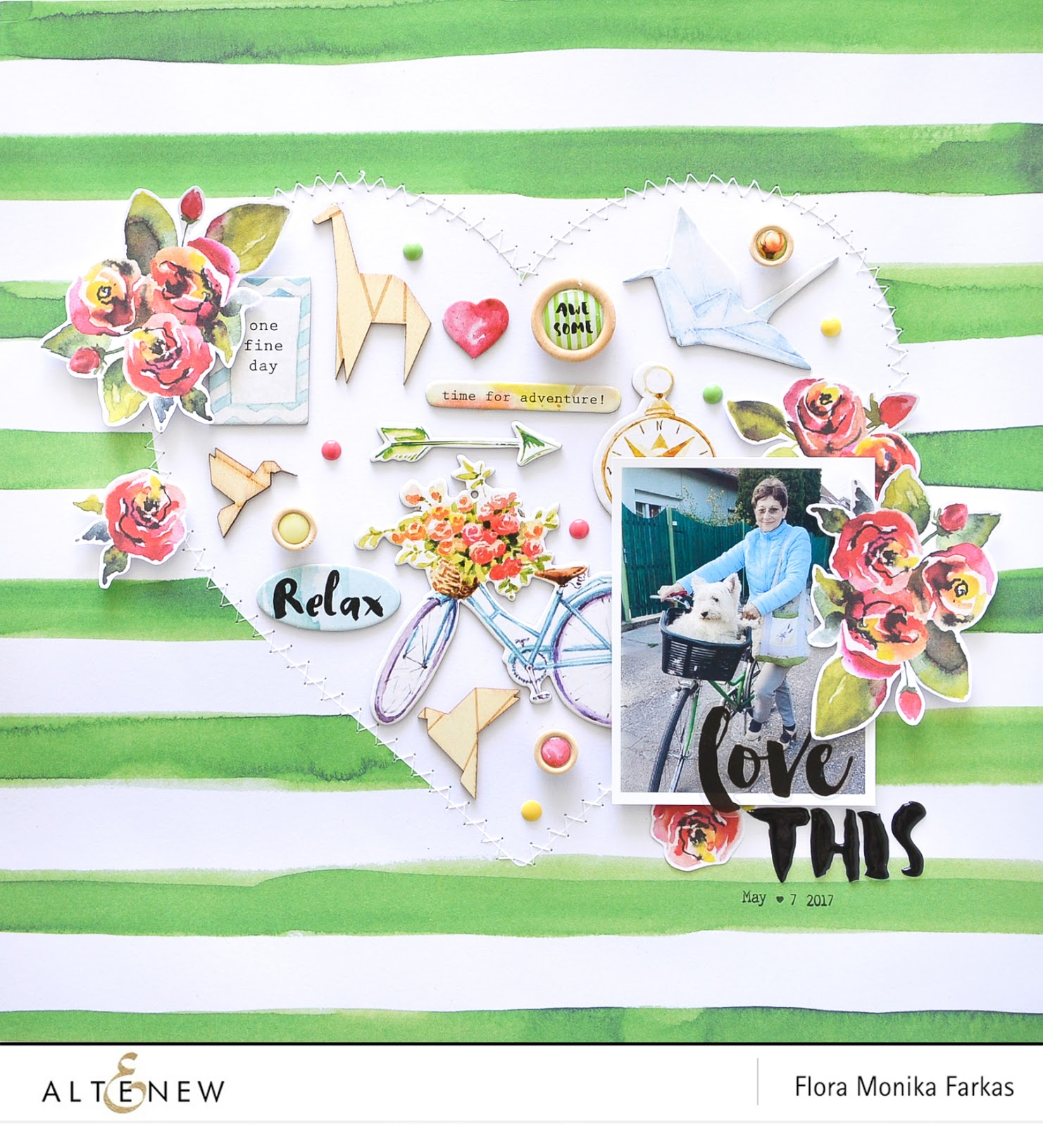 Scrapbook layout made with Altenew Sketch #2 and Reflection Kit by @floramfarkas .