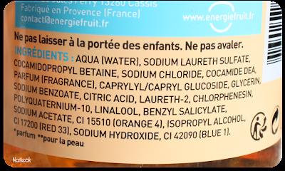 composition gel douche & shampoing  Iced Tea.