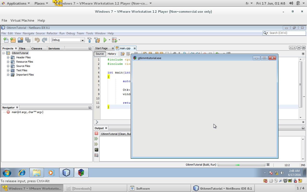 Gtkmm Tutorial: how to configure netbeans IDE for gtkmm on windows 7