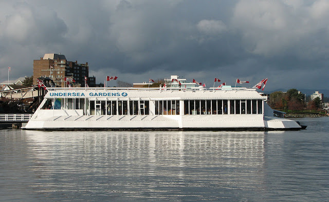 The former tourist attraction on Victoria's inner harbour...