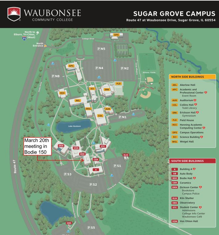 waubonsee sugar grove campus map Slate Group Blog March 2013 Slate Meeting waubonsee sugar grove campus map