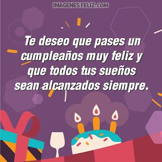 Imágenes feliz cumpleaños. Tarjetas con mensajes lindos y frases bellas. Fondo colorido de regalos y pastel con velas