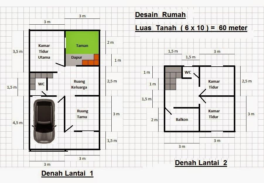 Desain Rumah Minimalis Desain Rumah Luas Tanah 60 Meter Desain 1