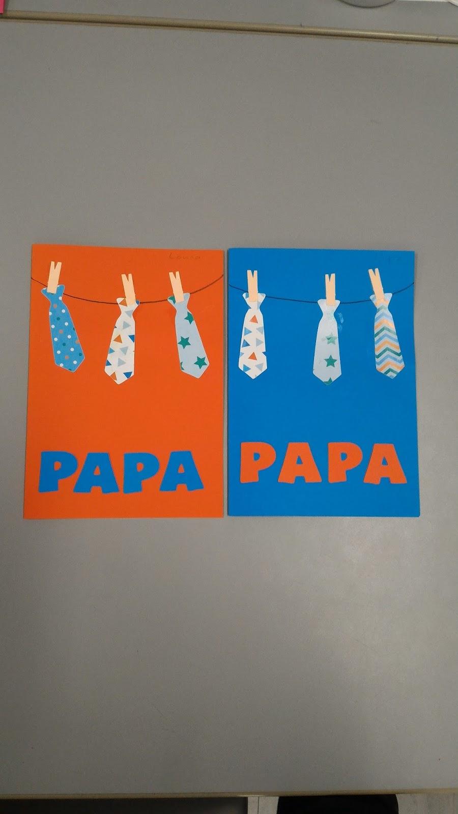 La maternelle de laur ne f te des m res p res parents - Carte fete des peres maternelle ...
