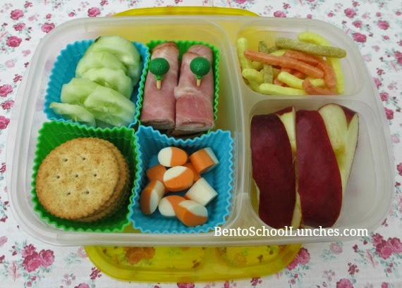 Easy Lunchables, bento school lunches