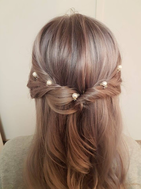 Pearls Entwined Braid hairstyle