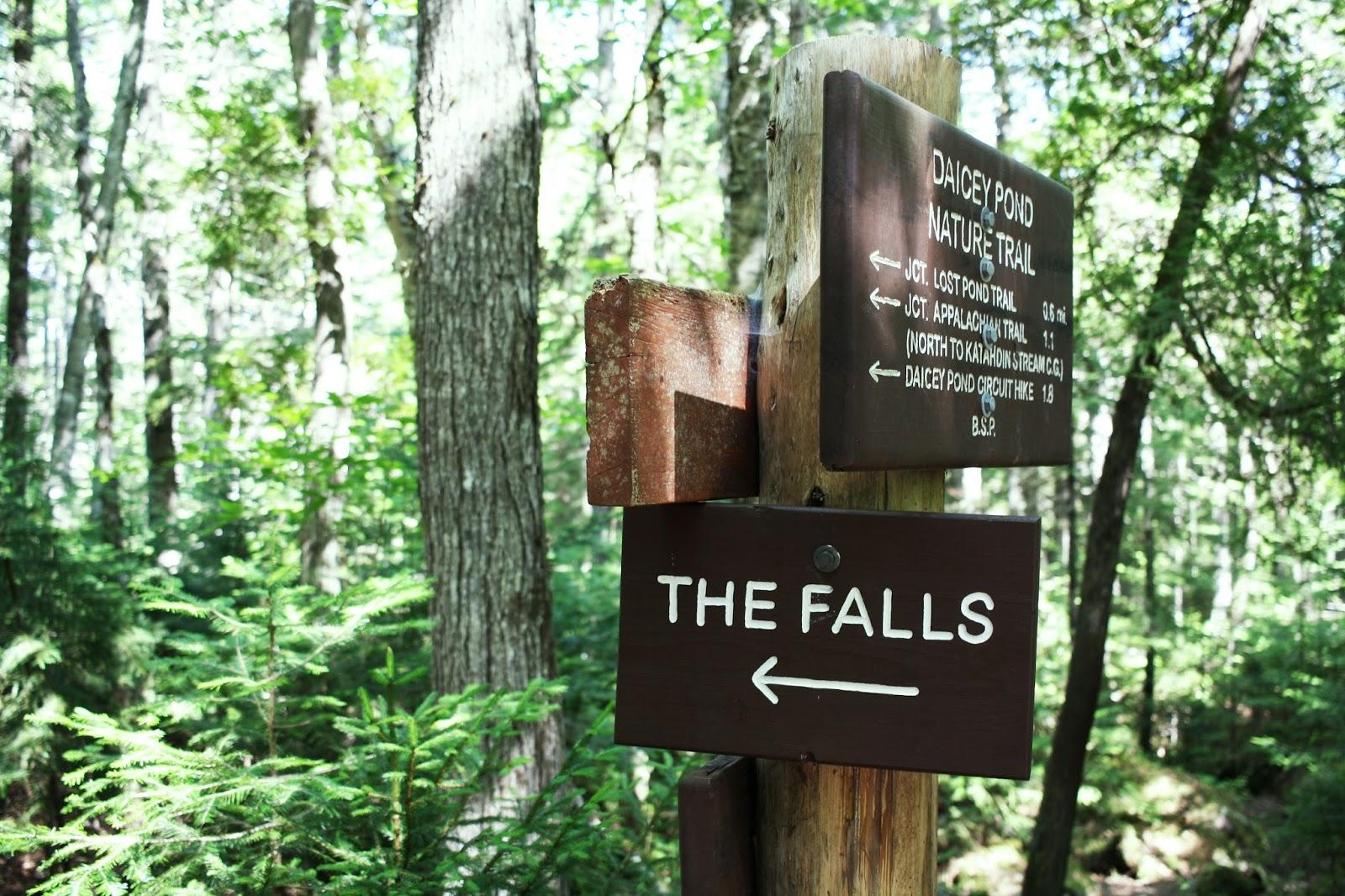 little Niagara and big niagra falls trail, baxter state park