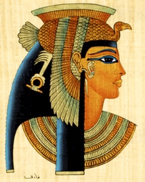 Imagen de Cleopatra de perfil a color