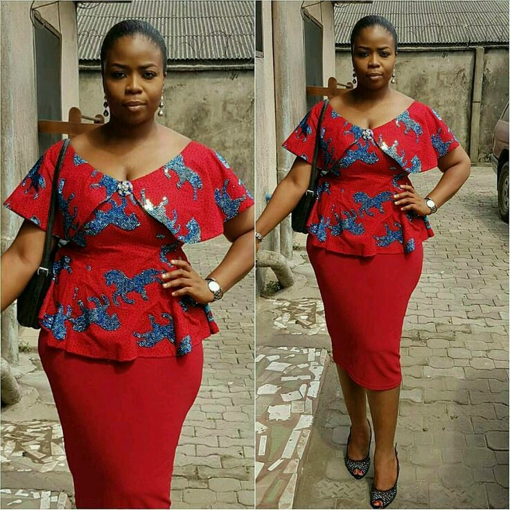 d43e595aac8 Ankara Styles & Aso Ebi Hub - 2019 African Fashion Ankara Skirt and Blouse  Styles for Wedding - ankarahub.com