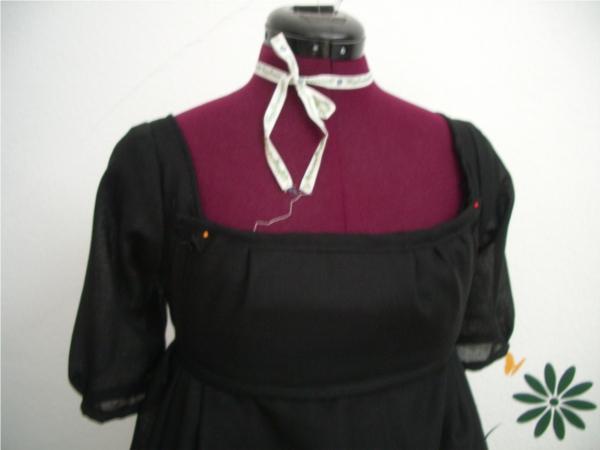 hertzwerk freiburg regency dress bibb black schwarzes empire kleid. Black Bedroom Furniture Sets. Home Design Ideas