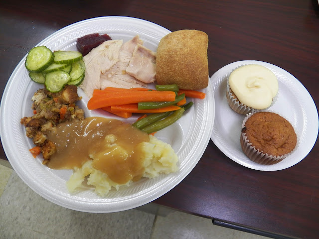 Turkey and fixins for Easter Dinner at Senior Center