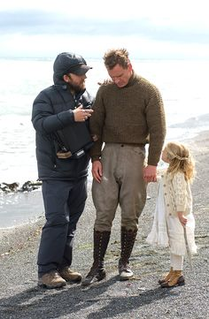 Michael Fassbender and Lucy-Grace in The Light Between Oceans (2016)