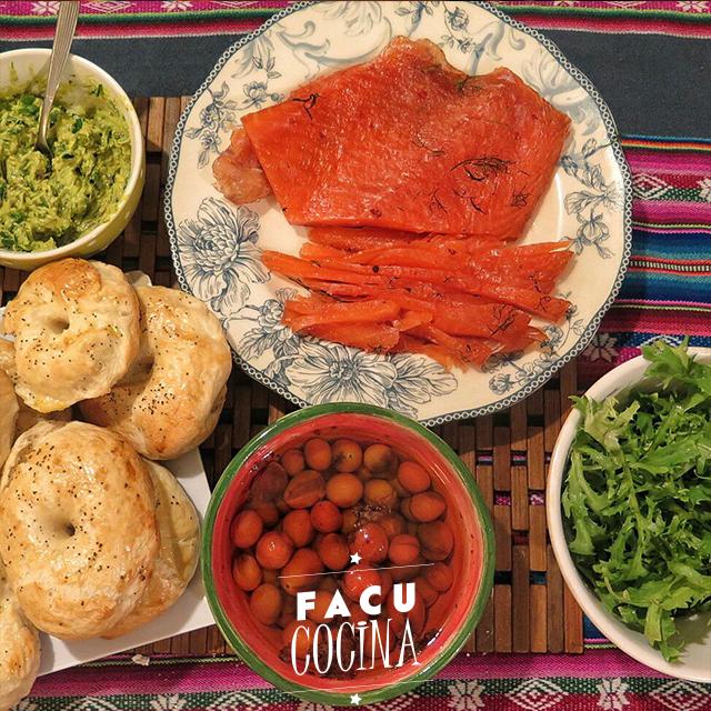 Bagels + gravlax casero