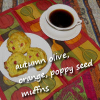 orange poppy seed muffins with autumn olive berries