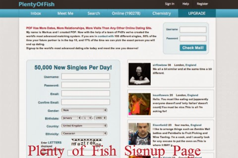 Plenty of fish dating site pof login