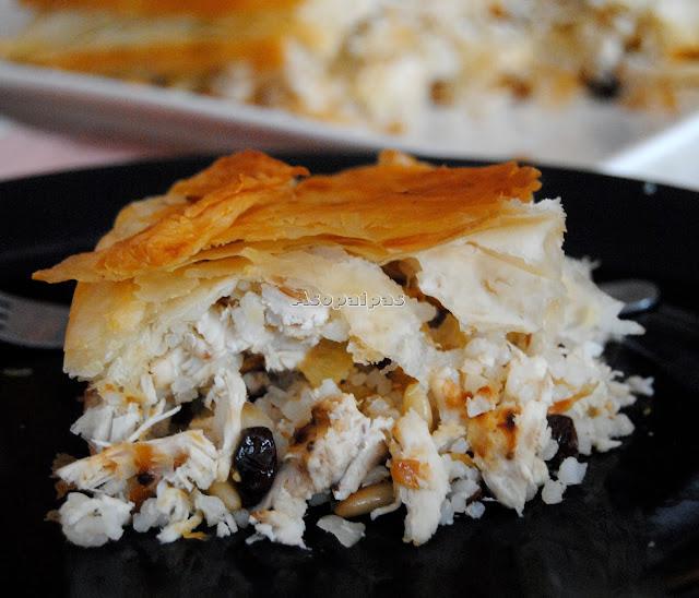 Pilaf con Pollo y Pasta Filo