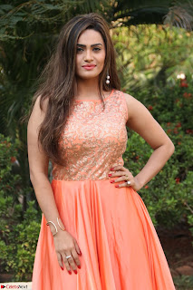 Actress Sakshi in beautiful orange Anarkali Dress Spicy Pics    036.jpg
