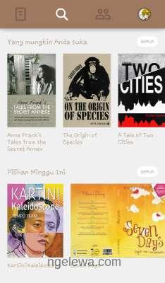 Tampilan Aplikasi Bookmate