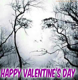 valentines day cards girl and tree