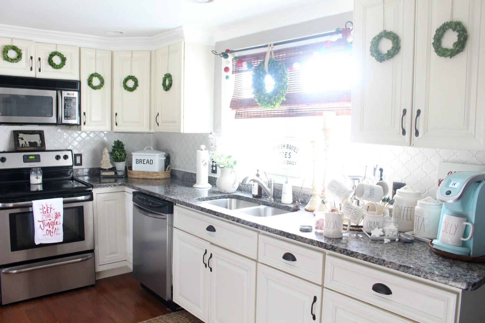 Cozy Christmas Cottage Kitchen Tour - The Glam Farmhouse