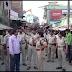 रामनवमी को ध्यान मे रखते हुए पुलिस बल ने किया फ्लेग मार्च ,एएसपी एसडीओ ने किया नेतृत्व