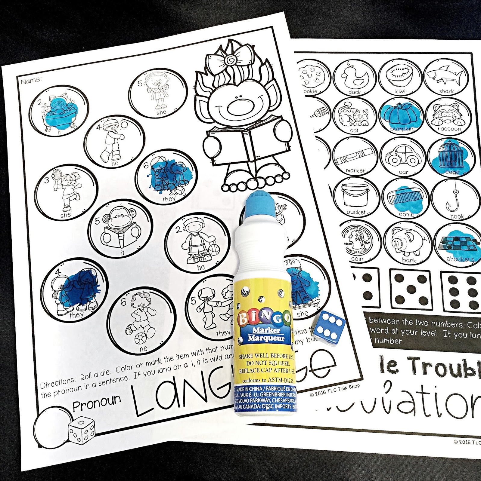 Coloring activities speech therapy - I Loved That It Made Therapy Easy Just Print The Pages I Need And Grab Daubers Dice And Or A Paperclip I M About Keeping It Super Simple So In