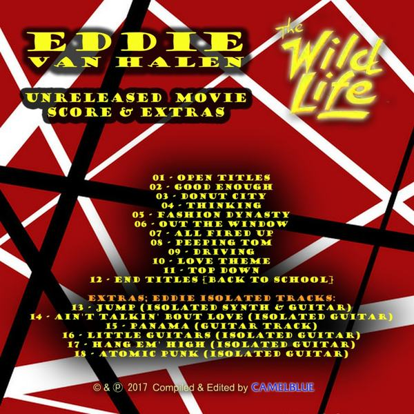 EDDIE VAN HALEN - The Wild Life (1984) Unreleased Movie Score & Extras - back