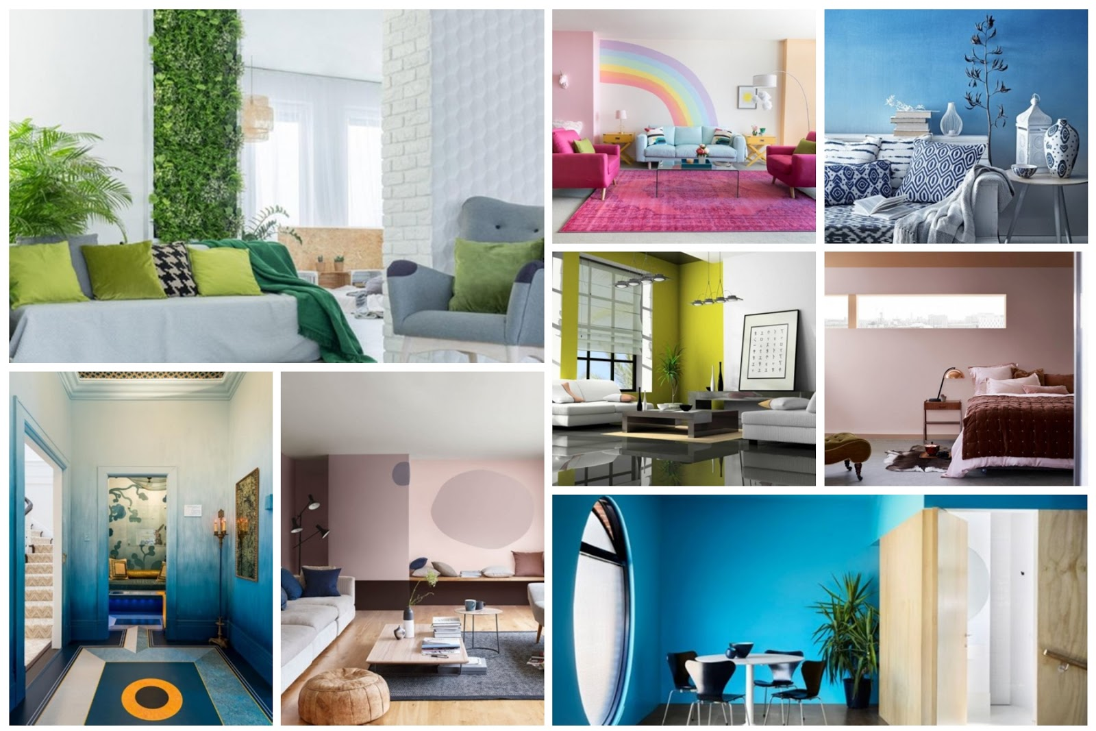 Wall painting colors 2018 for a refreshing summer house