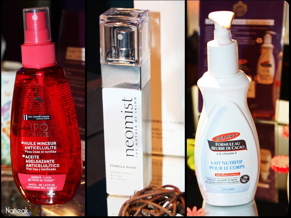 Les cosmetiques design paris, Neomist et Palmer's