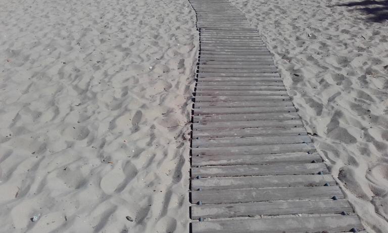 Passadiço Madeira Praia Samouco