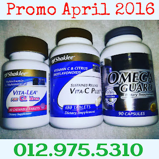 promo shaklee april 2016