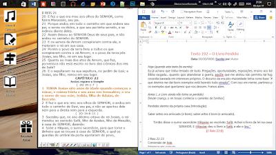 o livro perdido 2 reis 22 23 rei Josias estudo