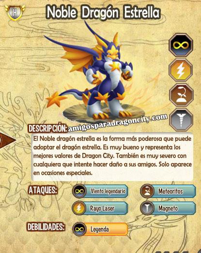 imagen de las caracteristicas del noble dragon estrella