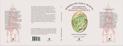 """Memoria del viaje a Francia. De una argentina de la Provincia de Buenos Aires"" de Francisca Espínola"