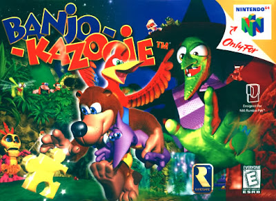 Nintendo 64 Banjo Kazooie box cover art