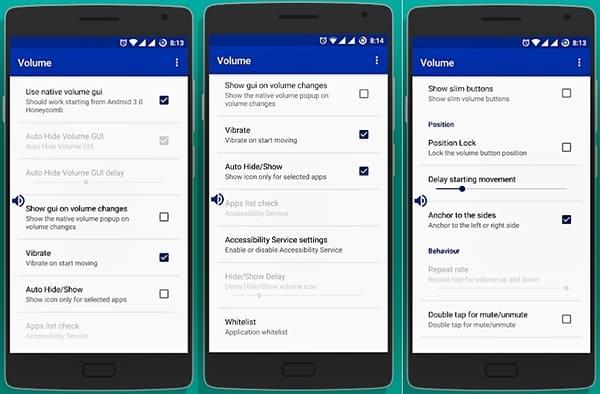 Botão de volume com defeito – App Android