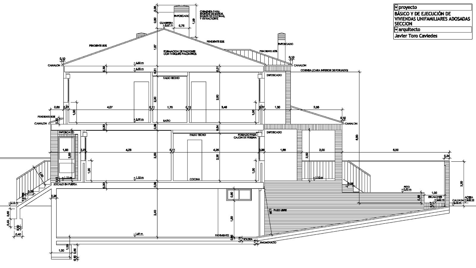 proyecto vivienda seccion arquitecto valladolid