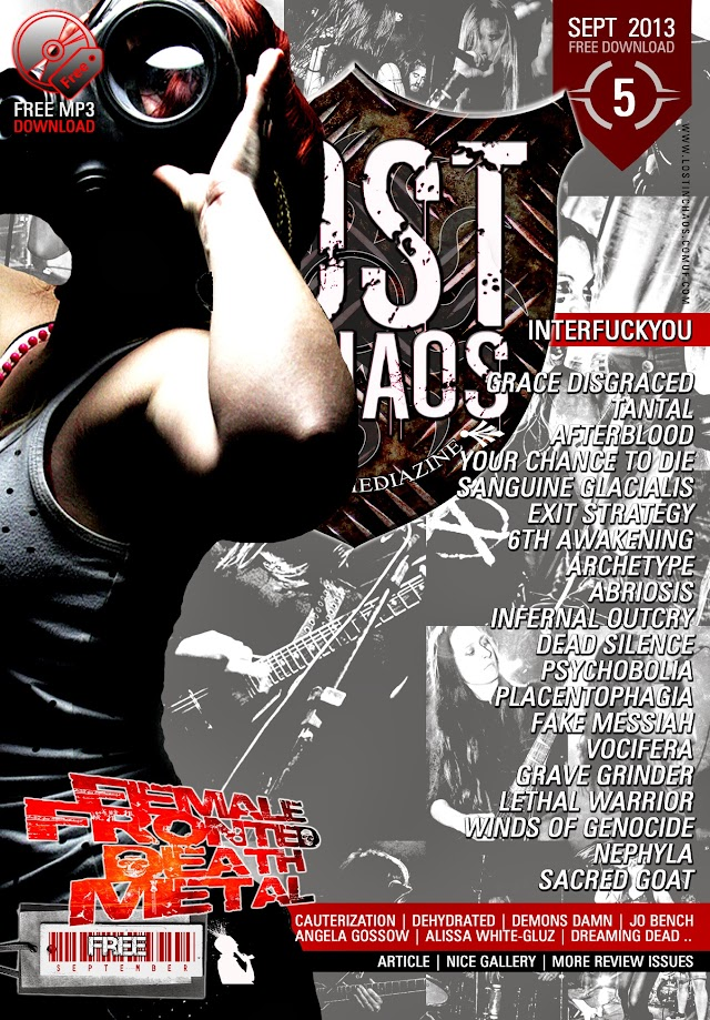 "LOST IN CHAOS DIGITALZINE # 5 "" Female Fronted Death Metal "" Issue With 103 PAGES + MP3 Soundcheck Compilation OUT FREE ONLINE NOW !!!"