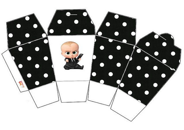 The Boss Baby Party Free Printable Boxes.