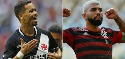 Yago Pikachu (à esq.) e Gabriel Barbosa, o Gabigol, são destaques na decisão entre Vasco x Flamengo