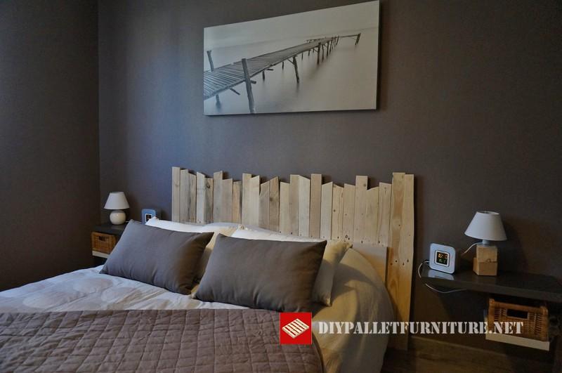 Cabeceros de cama hechos con tablas - Cabecero de tablas ...