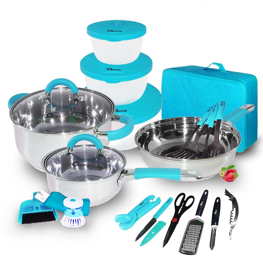 OX-992 23Pcs Oxone Travel Cookware Set