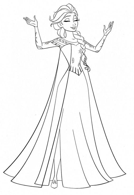 Tranh tô màu Elsa 17