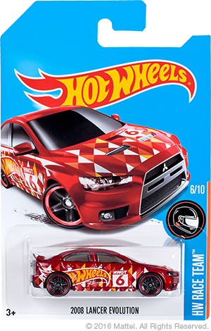 Hot Wheels 2008 Lancer Evolution special colors Kmart Edition